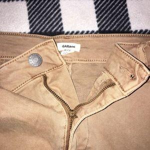 Garage Skirts - Cute khaki jean mini skirt SZ: M
